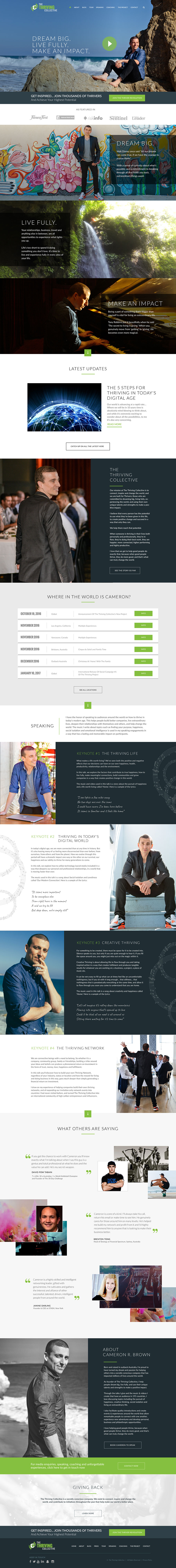 THE THRIVING COLLECTIVE WEBSITE DESIGN